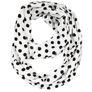 Peach Couture White Polka Dot Infinity Scarf