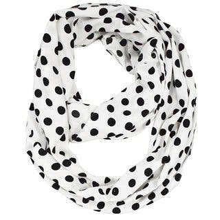 Peach Couture White Polka Dot Infinity Scarf|https://ak1.ostkcdn.com/images/products/17761712/P23960765.jpg?impolicy=medium