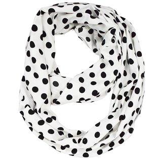 Peach Couture White Polka Dot Infinity Scarf