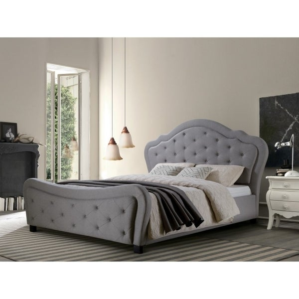 Best Quality Furniture Upholstered Tufted Platform Bed