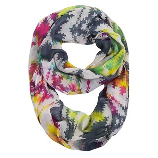 Peach Couture Multi-color Rainbow Infinity Scarf