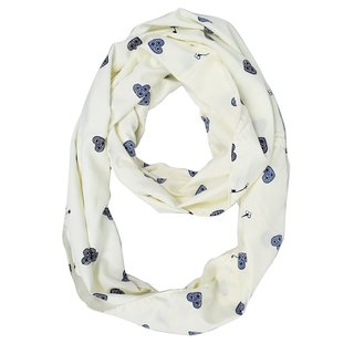 Peach Couture Cream Heart Key Infinity Loop Scarf