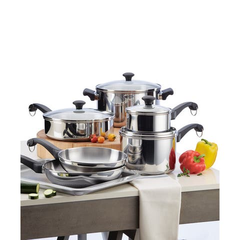 Farberware Classic Traditions 12-piece Stainless Steel Cookware Set