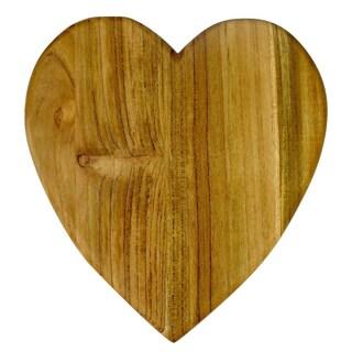 Handmade Heart Shaped Wood Cutting or cheese board (Guatemala)