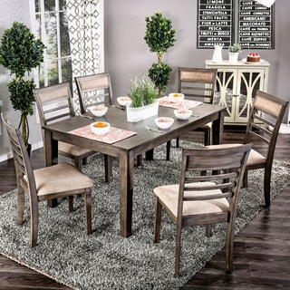 Link to Furniture of America Keso Rustic Solid Wood 7-piece Dining Set Similar Items in Dining Room & Bar Furniture