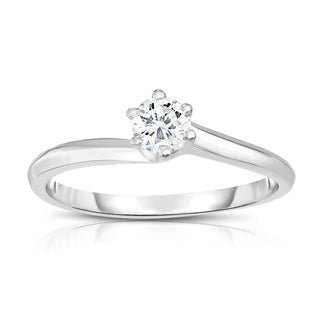 Noray Designs 14K Gold Diamond (0.25 Ct, SI2-I1 Clarity, G-H Color) 6-Prong Solitaire Ring - White G-H