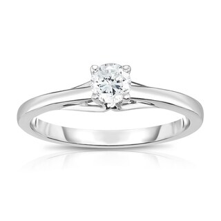 Noray Designs 14K Diamond (0.25 Ct, SI2-I1 Clarity, G-H Color) 4-Prong Solitaire Ring - White G-H