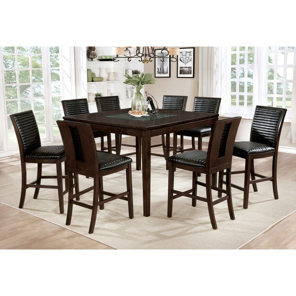 Counter Height Dining Sets On Sale: Shop Furniture Of America Gileon Walnut 9-piece Counter