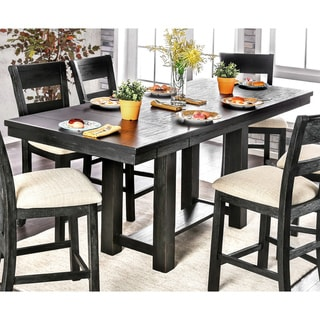 Furniture of America Herr Rustic Black 86-inch Counter Height Table