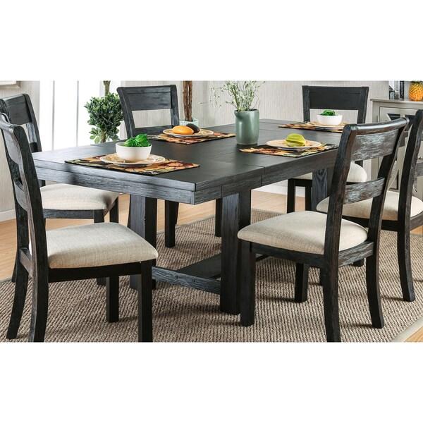Rustic Kitchen Tables For Sale: Shop Furniture Of America Denley Rustic Brushed Black 86