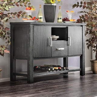 Link to Furniture of America Herr Rustic Black 52-inch Dining Server Similar Items in Dining Room & Bar Furniture