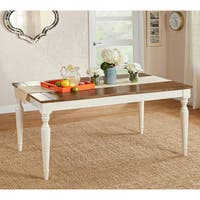 Simple Living Midland Dining Table - Antique White