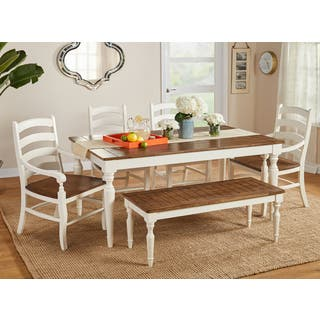 Simple Living Midland 6-Piece Dining Set with Bench https://ak1.ostkcdn.com/images/products/17761816/P23961007.jpg?impolicy=medium