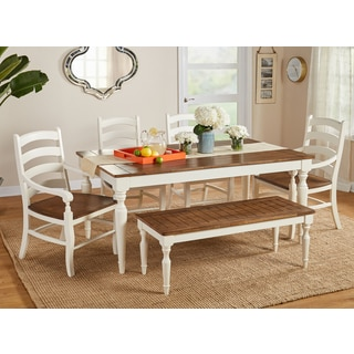 Simple Living Midland 6 Piece Dining Set With Bench