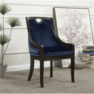 Chic Home June Neo Traditonal Velvet Nailhead Dining Side Chair