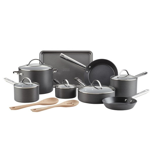 Anolon Professional Hard-Anodized Nonstick 15-Piece Cookware Set. Opens flyout.