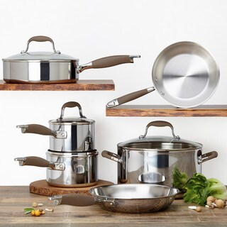 Anolon Tri-Ply Stainless Steel Cookware Set