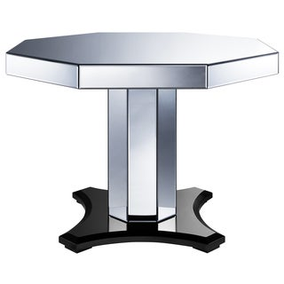 Smoked Mirrored Octagon Pedestal Table