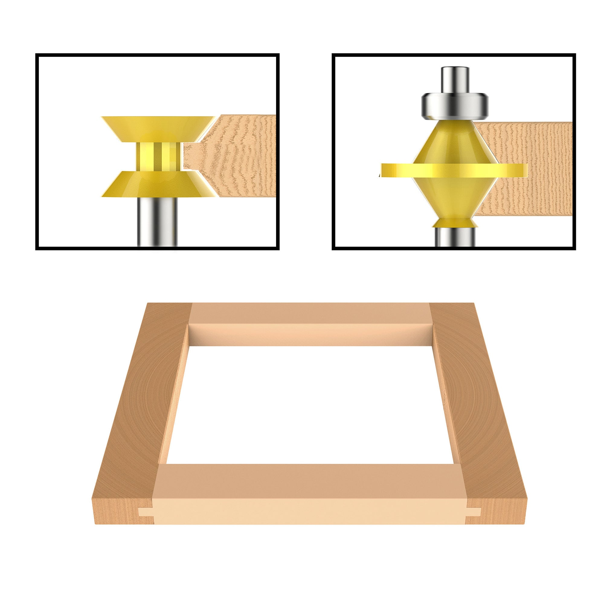 Tongue And Groove Router Bit Set With Inch Shank And Wood Storage Box 2 Piece Kit By Stalwart