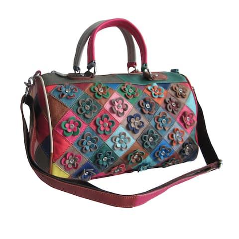 Amerileather Francienne Leather Shoulder Handbag