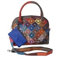 Amerileather Kenzer Leather Shoulder Handbag  - Multi