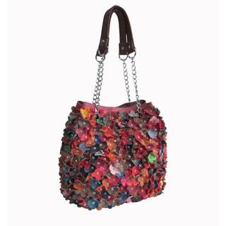 Amerileather Willet Rainbow Leather Shoulder Hobo Handbag