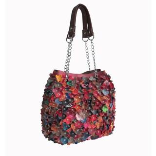 Amerileather Willet Rainbow Leather Shoulder Hobo Handbag - Multi