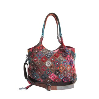 Amerileather Winstel Leather Tote Bag