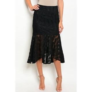 JED Women's Black Lace Short Mermaid Skirt