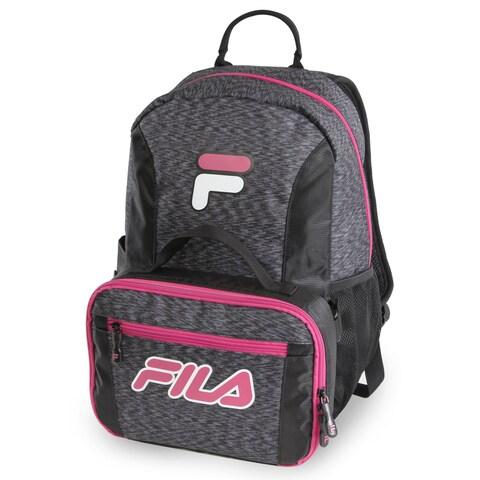 Fila Noontide Static Fuchsia Backpack & Lunch Bag Set