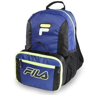 Fila Meridian Abstract Print/Neon Lime Backpack & Lunch Bag Set