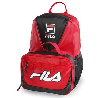 Fila Meridian Red/Orange/Black Backpack & Lunch Bag Set