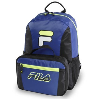 Fila Noontide Blue/Neon Lime Backpack & Lunch Bag Set