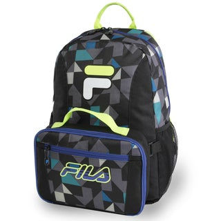 Fila Noontide Triangle Print/Blue/Lime Backpack & Lunch Bag Set