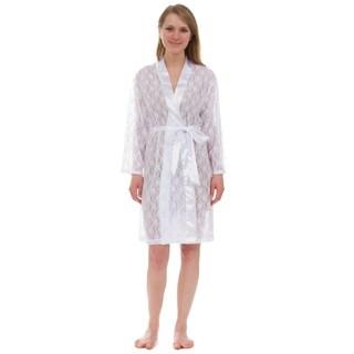 Leisureland  Women's Robe, Stretch Full Lace Robe