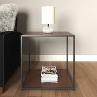 Porch & Den Wicker Park Haddon Accent Table with Metal Frame