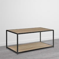 porch den wicker park haddon metal frame coffee table - Metal Frame Coffee Table