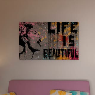 Porch & Den Banksy 'Life is Beautiful' Canvas Wall Art|https://ak1.ostkcdn.com/images/products/17765075/P17840741.jpg?impolicy=medium