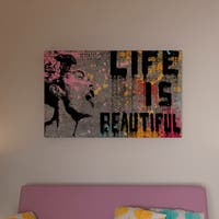 Porch & Den Banksy 'Life is Beautiful' Canvas Wall Art