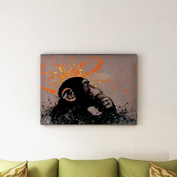 Carbon Loft Banksy 'The Thinker' Canvas Wall Art