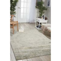 Porch & Den Greenpoint Lorimer Grey Distressed Oriental Area Rug - 7'10 x 10'