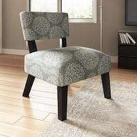 Porch & Den Logan Square Fullerton Damask Armless Accent Chair