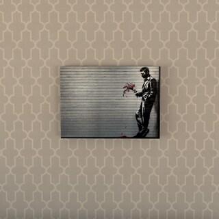 Porch & Den Banksy 'Hustler Club' Floating Brushed Aluminum Art