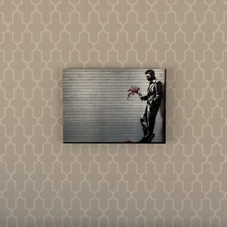 Porch & Den Banksy 'Hustler Club' Floating Brushed Aluminum Art