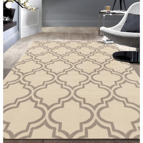 Porch & Den Marigny Spain Trellis Cream Area Rug - 7'6 x 9'5