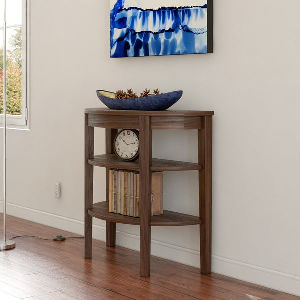 Porch & Den Bywater Poland Wood 3-shelf Console Table