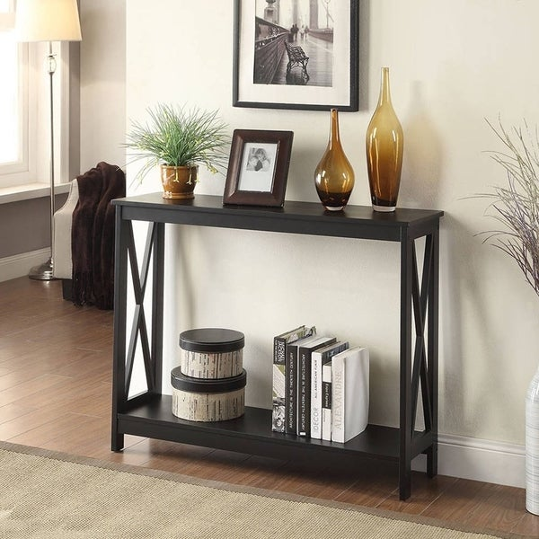 The Gray Barn Pitchfork X-base Console Table