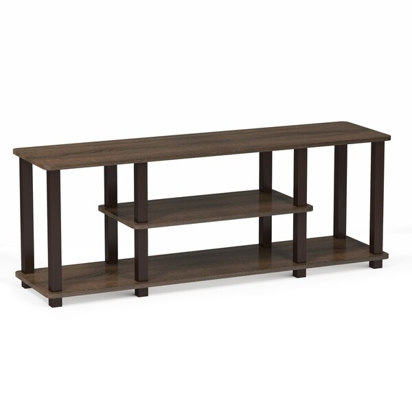 Porch & Den Stuyvesant Open Shelves 3-tier Entertainment TV Stand