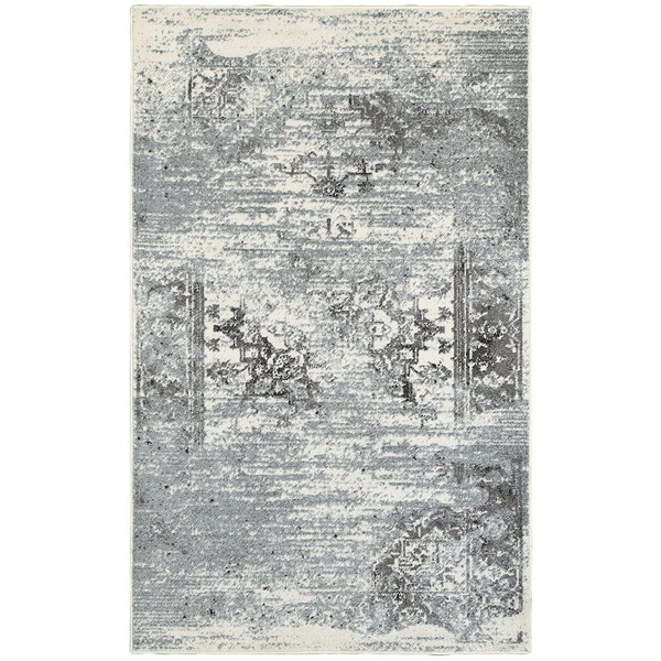 Porch & Den Somerville Everett Gardenia Silver Blue Indoor Area Rug - 7'9 x 9'5
