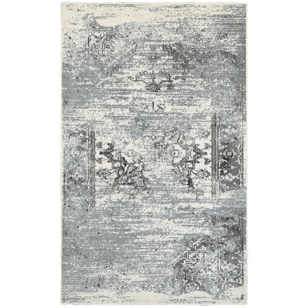 Porch & Den Linnaean Gardenia Silver Blue Indoor Area Rug - 7'9 x 9'5